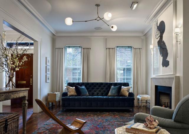 How To Decorate Around A Blue Velvet Sofa Interior Design Blogs