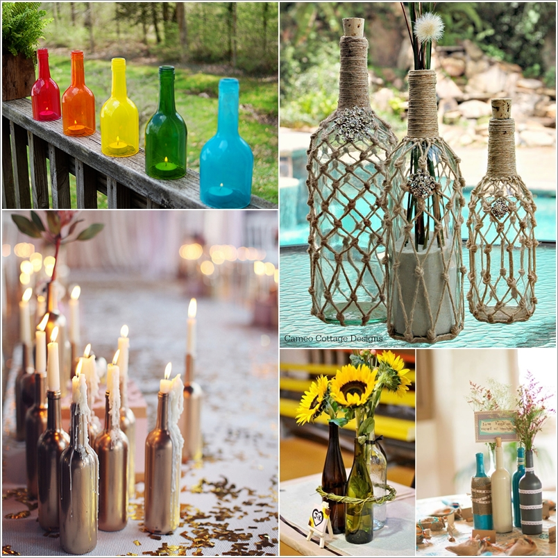 15 Amazing Wine Bottle Crafts To Decorate Your Home With Interior