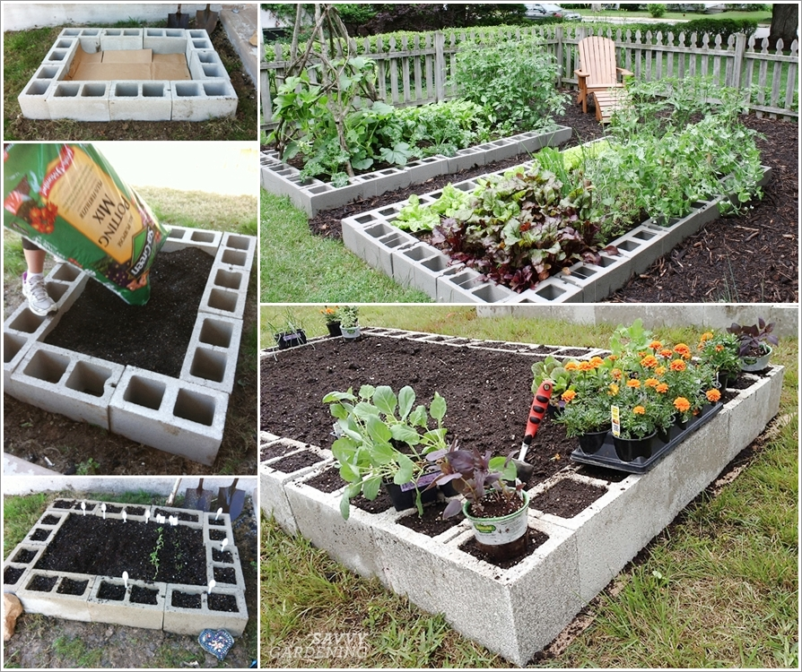 These Cinder Block Raised Garden Beds Are Just Fabulous Interior