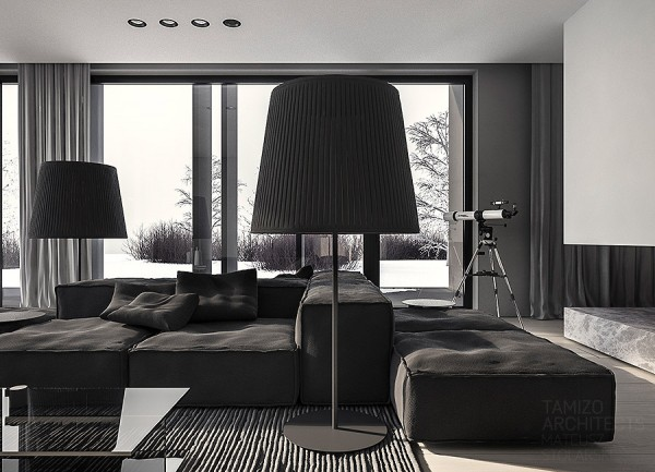 A Single Family Home Interior In Cool Shades Of Gray Interior
