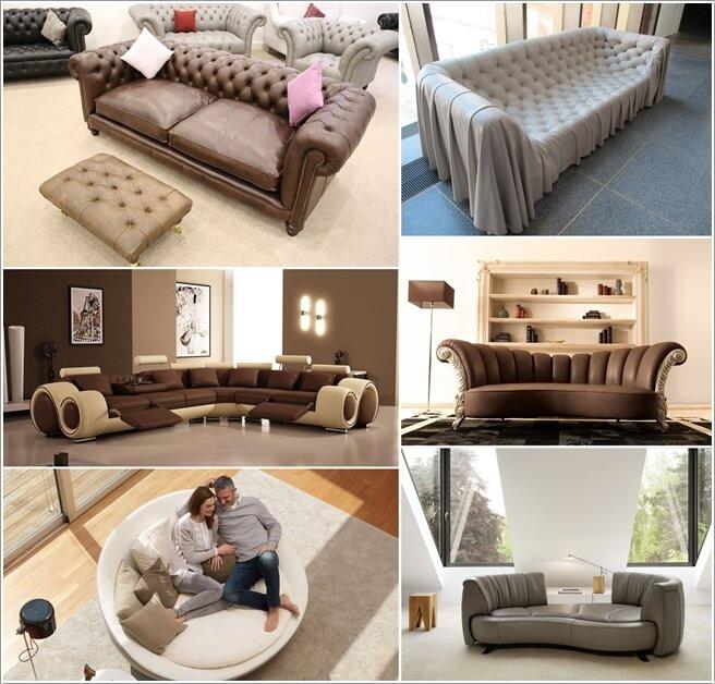 10 Unique Leather Sofa Designs For Your
