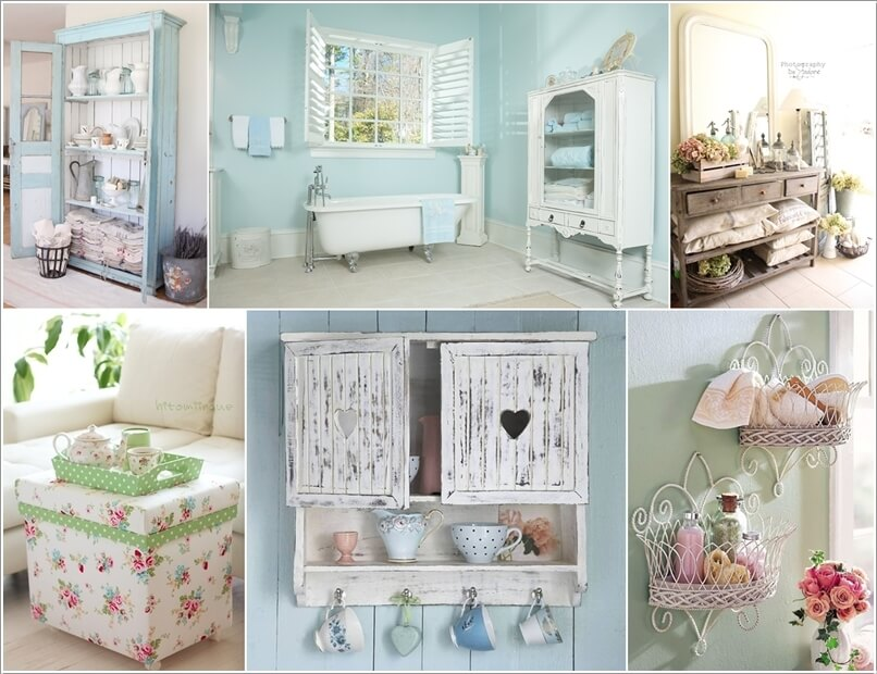 home decor blogs shabby chic 15 wonderful shabby chic home storage ideas interior 12214