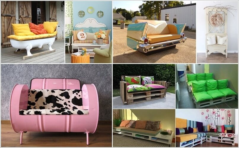 10 Cool Diy Couch Ideas From Recycled Materials Interior Design Blogs