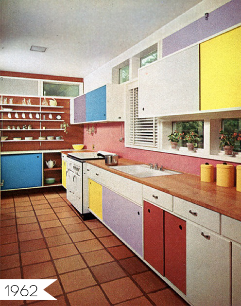 Everything Old Is New Again Multi Colored Cabinets In The Kitchen Interior Design Blogs