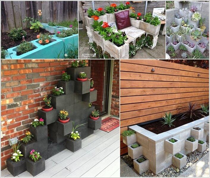 10 Awesome Ideas to Design a Cinder Block Garden Interior Design