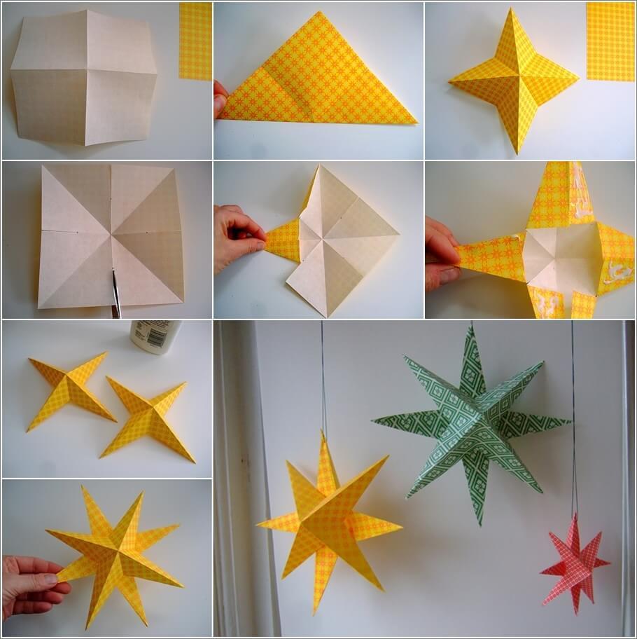 Make These Easy Paper Stars For Christmas Interior Design Blogs