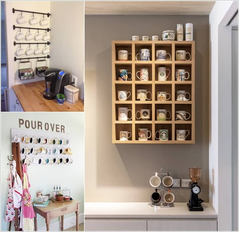 Cool And Creative Mug Storage Ideas For Your Kitchen Interior