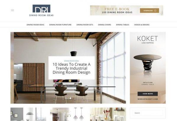 Dining Room Ideas Blog   Top 18 Interior Design Blogs Of 2016 (Copy)  Interior