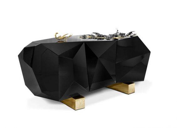 Diamond metamorphosis sideboard luxury designs Boca do Lobo new luxury designs inspired in Nature's dark side Diamond bug sideboard Boca do Lobo new luxury designs inspired in Natures dark side