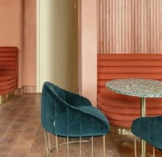 Mid-Century Modern Omar's Place: The New Mid-Century Modern Restaurant in London feat 5 235x228