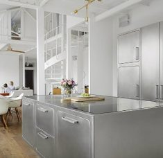 Industrial Style Kitchen Step Inside An Industrial Style Kitchen In The Middle Of Paris feat 8 235x228