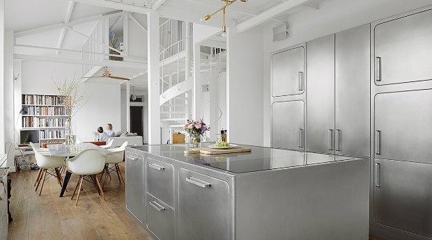 Industrial Style Kitchen Step Inside An Industrial Style Kitchen In The Middle Of Paris feat 8