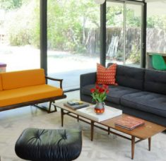 mid-century modern home Tour An Amazing Mid-Century Modern Home In California feat 9 235x228