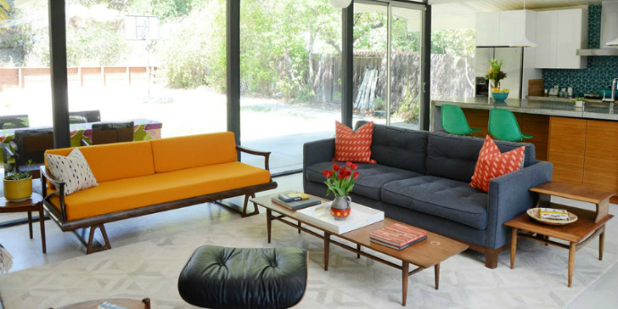 mid-century modern home Tour An Amazing Mid-Century Modern Home In California feat 9