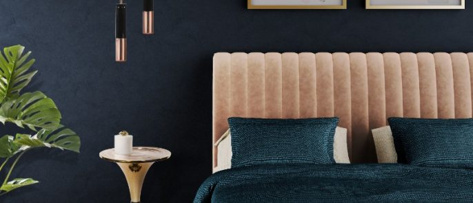 Luxurious Bed Choices by Top Interior Designers luxurious bedrooms Luxurious Bed Choices by Top Interior Designers Essential Home Presents Sophia The Velvet Charm 5 686x295