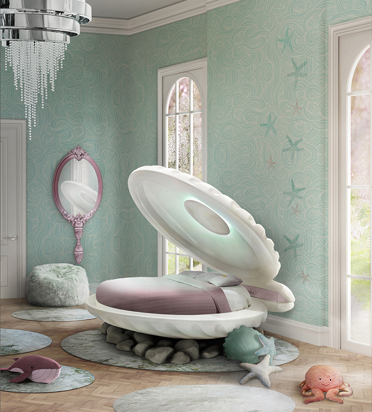 5 Essentials For A Magical Kid's Bedroom [object object] 5 Essentials For A Magical Kid's Bedroom mermaid bed circu magical furniture 1