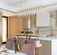 luxury design Luxury Design: A Kitchen Gets An Incredible Pink and Gold Makeover feat 2 235x228